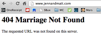 404 Marriage Not Found