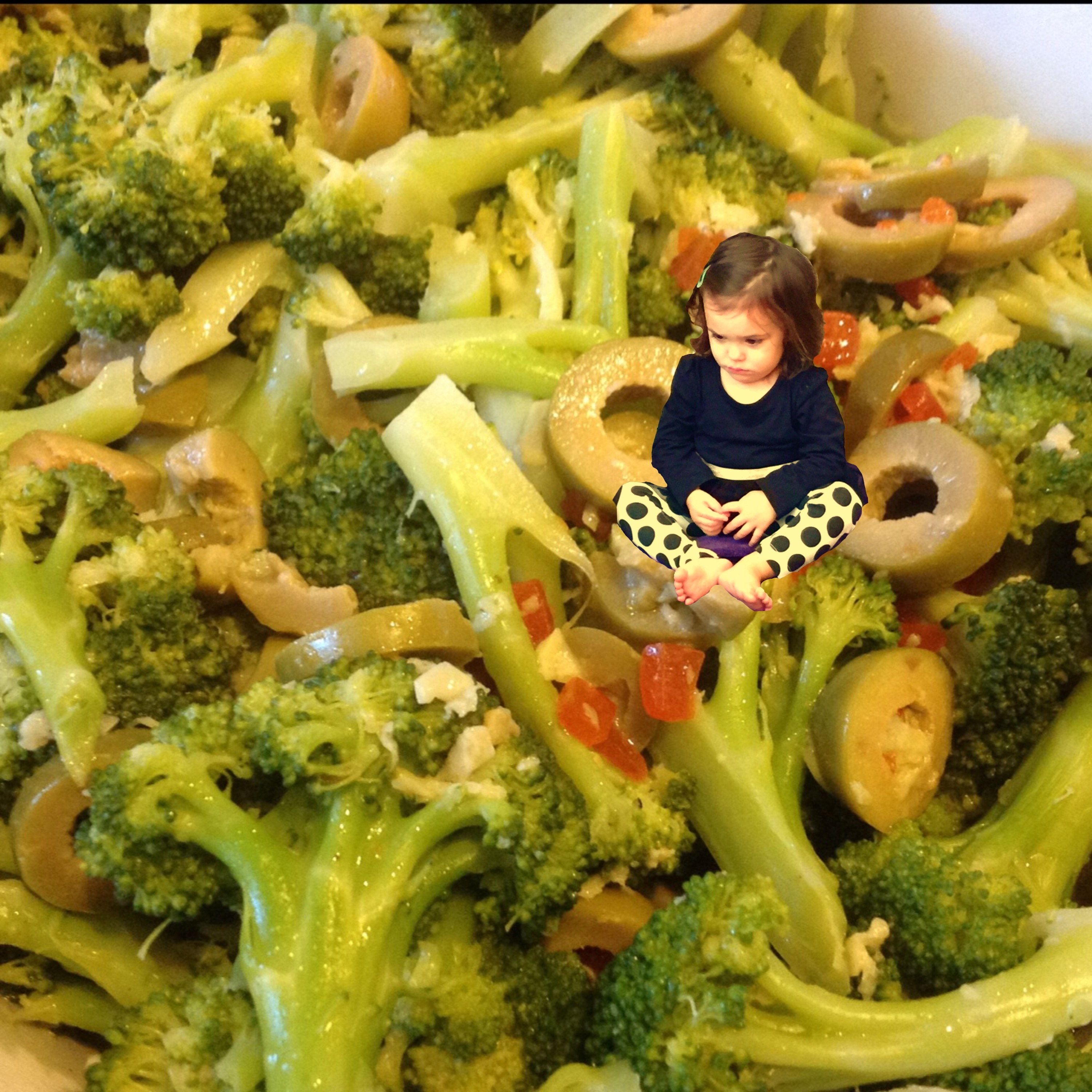 Yes, I Superimposed My Niece Onto A Bowl of Broccoli
