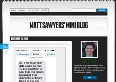 Matt's Mini Blog – Tumblr