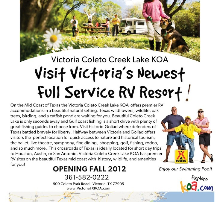 Victoria Coleto Creek Lake KOA Ad