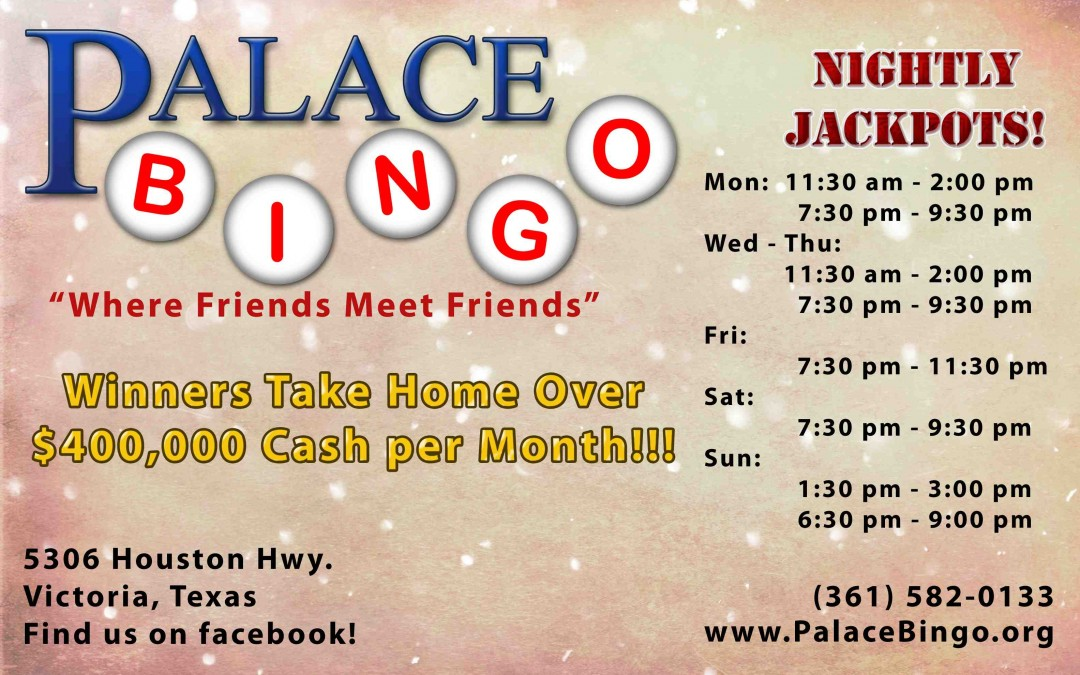 Palace Bingo Newspaper Ad