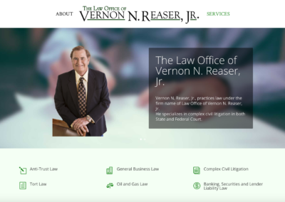 Vernon Reaser Law Website